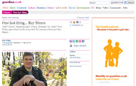 Interview with Ray Mears from The Guardian