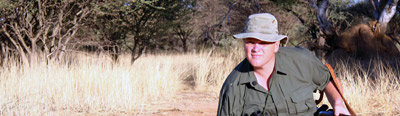 Ray Mears tracking leopards in Namibia