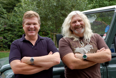 Ray Mears & Davey Hughes of Swazi Clothing