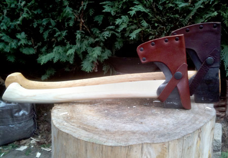 Fitting a new axe handle
