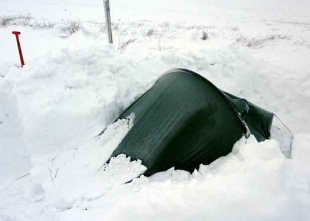 Hilleberg Akto Tent in the snow