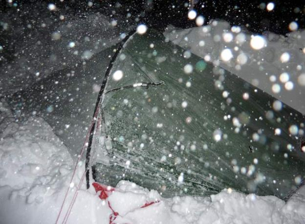 Hilleberg Akto Tent in the snow