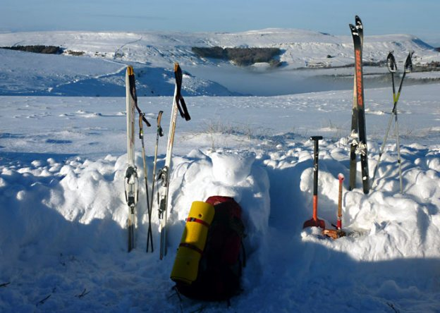 Cross-country skiing on the Yorkshire Moors