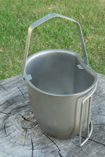 The BCB Cup Hanger attached to the modified cup