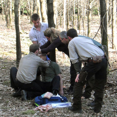 Just one of the first aid scenarios