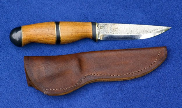 Hans' Julius Pettersson Knife complete with leather belt sheath