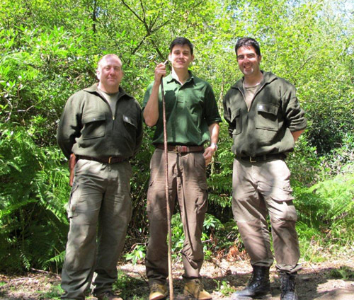 Keith Whitehead, Dan Hume and James Bath of the Woodlore Team