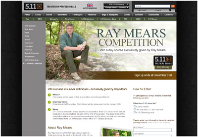 Ray Mears Competition with 5.11 Tactical