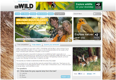 ITV Wild's Woodlore Competition