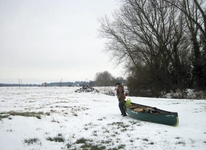 A Canoe Trip in the Snow