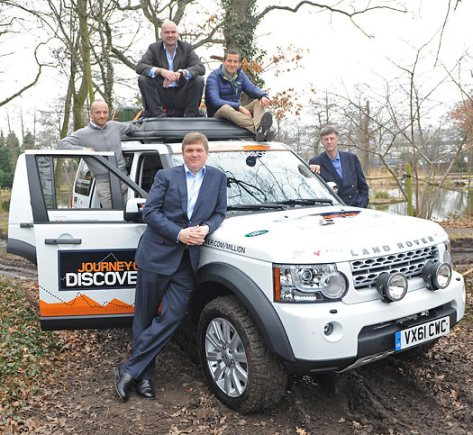 Ray Mears with the one millionth Land Rover Discovery