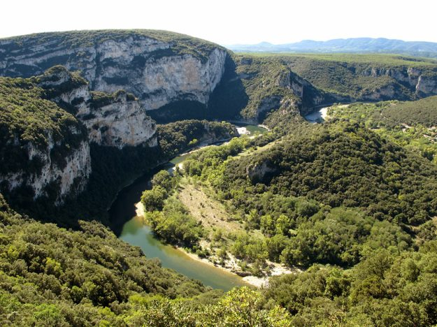 The Ardeche Gorge in France, home to Woodlore's canoeing courses