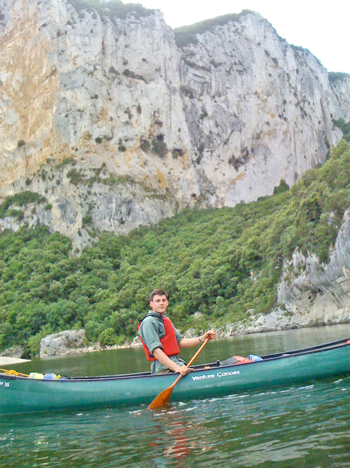 Dan Hume Canoeing in the Ardeche