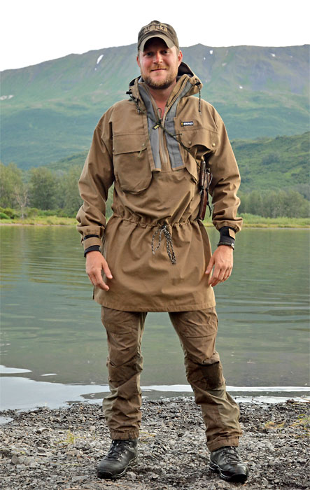 Kristian in his Swazi Tahr Anorak, on Kodiak Island