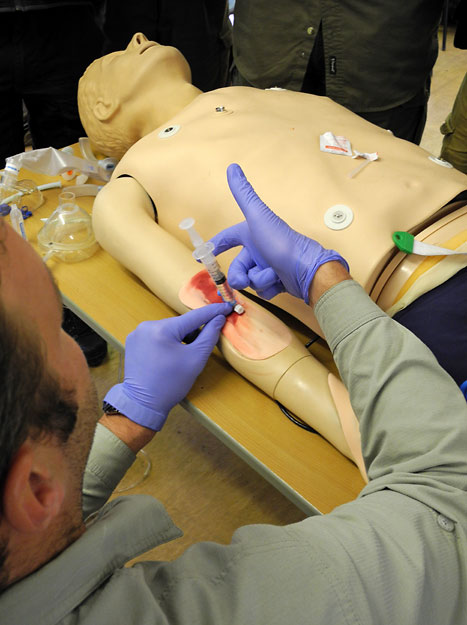 Vital first aid training on the WEM3 Course