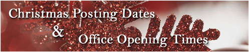 Christmas Posting Dates & Office Opening Hours