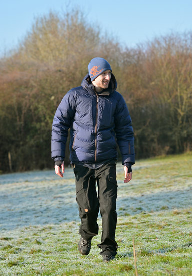 Steven in his Bergans Sauda Down Jacket and Fjallraven Trousers