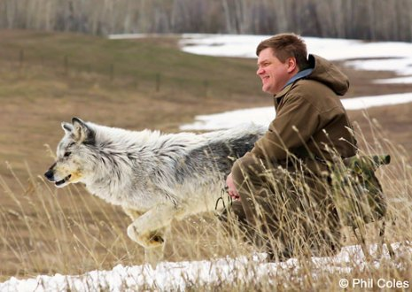 Ray during filming for the 'Wolves' episode of Survival with Ray Mears, Idaho