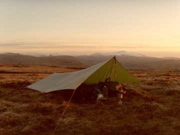 The Hilleberg Tarp in use in Scotland