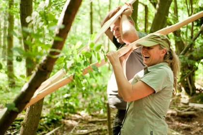 Birch Bark Canoe Building with Ray Mears and Pinock Smith - Day 2