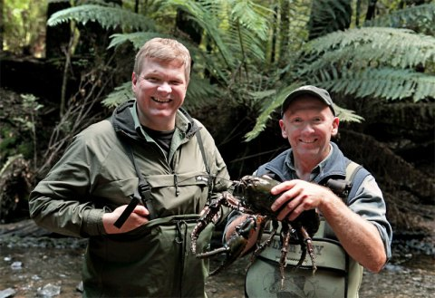 Ray Mears while on location for Close Encounters