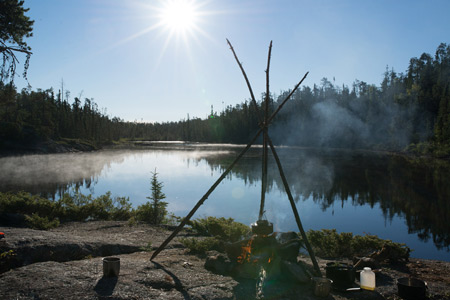 A misty morning in the Caribou Provincial Park