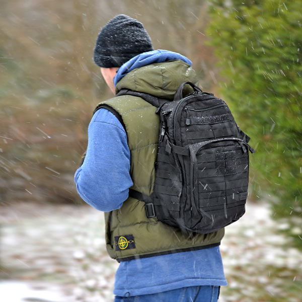 Steve with his 5.11 Rucksack in colder times