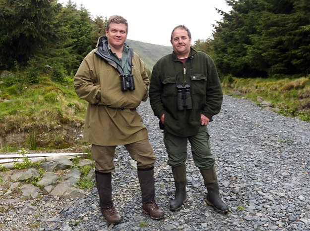 Ray Mears on location in Galloway, Scotland