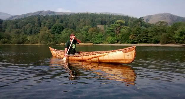 Tim Farrington's birch bark canoe