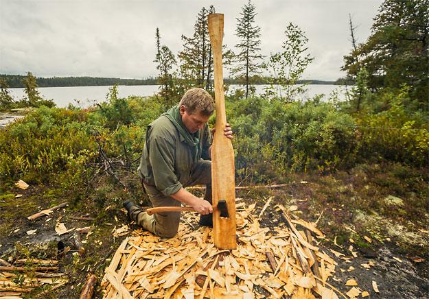Ray Mears in Ontario (photo by Goh Iromoto)