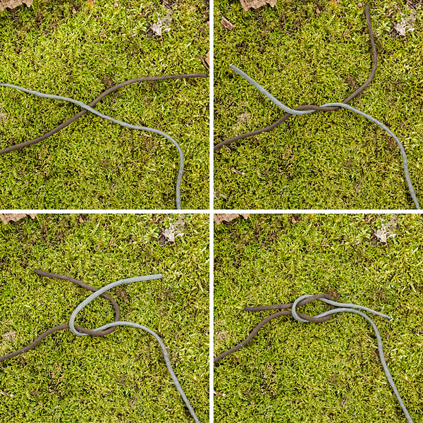 Reef knot guide