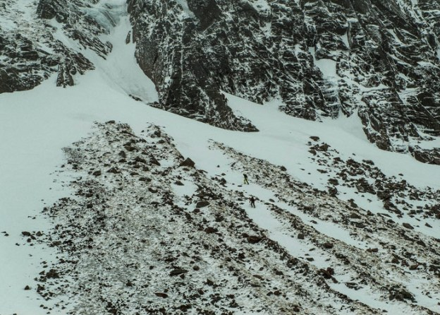 Another group heading up to into Alladins couloir.