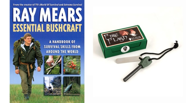 Ray Mears Essential Bushcraft book and Ray Mears Fire Stick with Presentation Box