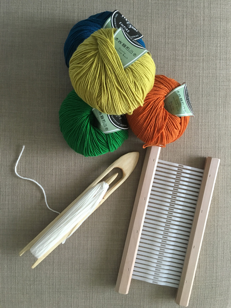 Wool, rigid heddle, and shuttle