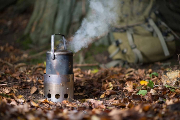 Littlbug Junior stove in use